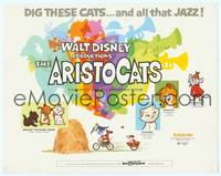 9k009 ARISTOCATS TC '71 Walt Disney feline jazz musical cartoon, great colorful image!