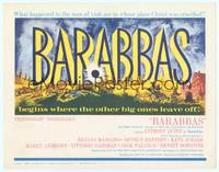 9k011 BARABBAS TC '62 Richard Fleischer, cool artwork of Anthony Quinn & Silvana Mangano!