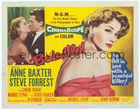 9k013 BEDEVILLED TC '55 Steve Forrest fell in love with beautiful blue-eyed killer Anne Baxter!