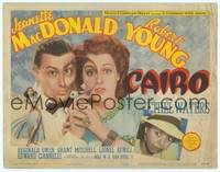 9k018 CAIRO TC '42 Jeanette MacDonald & Robert Young with magnifying glass + Ethel Waters!