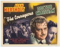 9k023 COURAGEOUS DR. CHRISTIAN TC '40 Jean Hersholt fights an epidemic, Tom Neal!