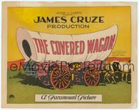 9k024 COVERED WAGON TC '23 James Cruze, cool artwork litho of wagon on the Oregon Trail!