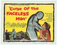 9k025 CURSE OF THE FACELESS MAN TC '58 volcano man of 2000 years ago stalks Earth to claim girl!