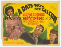 9k028 DATE WITH THE FALCON TC '41 George Sanders, Wendy Barrie with smoking gun!