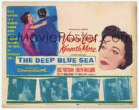 9k030 DEEP BLUE SEA TC '55 artwork of Vivien Leigh & Kenneth More, Anatole Litvak