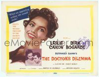 9k032 DOCTOR'S DILEMMA TC '59 Dirk Bogarde thinks Leslie Caron would be an appealing widow!
