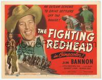 9k038 FIGHTING REDHEAD signed TC '49 by Indian boy Don 'Jug' Reynolds & Jim Bannon as Red Ryder!