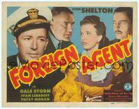 9k041 FOREIGN AGENT TC '42 Gale Storm & John Shelton try to smash a Nazi spy ring!
