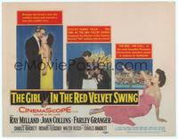 9k043 GIRL IN THE RED VELVET SWING TC '55 art of half-dressed Joan Collins as Evelyn Nesbitt Thaw!