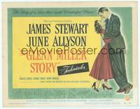 9k044 GLENN MILLER STORY TC '54 full-length art of James Stewart in the title role & June Allyson!
