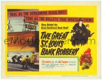 9k046 GREAT ST. LOUIS BANK ROBBERY TC '59 Molly McCarthy & Steve McQueen in his second movie!