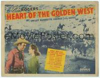 9k049 HEART OF THE GOLDEN WEST TC '42 cool image of Roy Rogers herding cattle + with Ruth Terry!