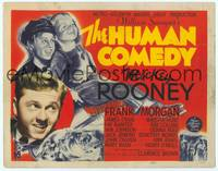 9k053 HUMAN COMEDY TC '43 artwork of Mickey Rooney & Butch Jenkins, from William Saroyan story!