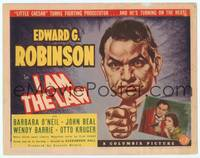 9k055 I AM THE LAW TC '38 Edward G. Robinson turns fighting prosecutor & he's turning on the heat!