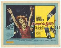 9k057 I WANT TO LIVE TC '58 Susan Hayward as Barbara Graham, a party girl convicted of murder!