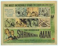 9k060 INCREDIBLE SHRINKING MAN TC '57 Jack Arnold, classic Reynold Brown sci-fi artwork!