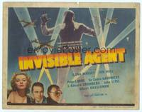 9k061 INVISIBLE AGENT TC '42 fx image of invisible man with WWII airplanes, Peter Lorre