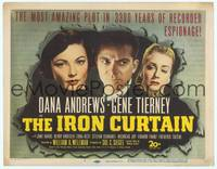 9k062 IRON CURTAIN TC '48 close portraits of Dana Andrews, sexy Gene Tierney & June Havoc!