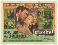 9k064 ISTANBUL TC '57 Errol Flynn & Miss Cornell Borchers in Turkey's city of a thousand secrets!