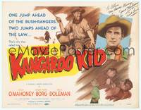 9k067 KANGAROO KID signed TC '50 by Jock Mahoney, two jumps ahead of the law in Australia!