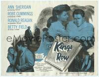 9k068 KINGS ROW TC R56 Ann Sheridan holds Ronald Reagan who asks Where's the rest of me!