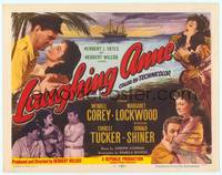 9k070 LAUGHING ANNE TC '54 cool romantic art of Wendell Corey & Margaret Lockwood!