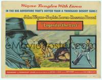 9k072 LEGEND OF THE LOST TC '57 art of John Wayne, who tangles with sexiest Sophia Loren!