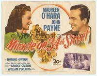 9k078 MIRACLE ON 34th STREET TC '47 Maureen O'Hara, John Payne, Edmund Gwenn, Natalie Wood!