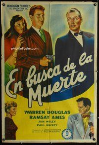 1a055 BELOW THE DEADLINE Argentinean '45 Warren Douglas takes over of his brother's illegal casino!