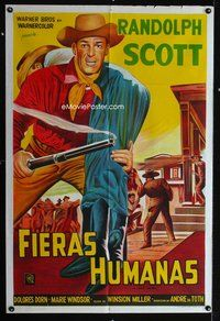 1a062 BOUNTY HUNTER Argentinean '54 when the law put up the money Randolph Scott put on his guns!