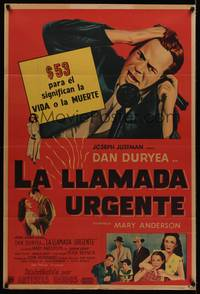 1a068 CHICAGO CALLING Argentinean '51 $53 means life or death for Dan Duryea!