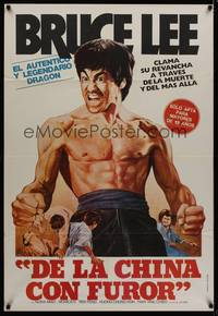 1a070 CHINESE CONNECTION Argentinean R80s art of barechested kung fu master Bruce Lee!