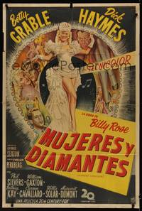 1a077 DIAMOND HORSESHOE Argentinean '45 sexiest image of dancer Betty Grable in skimpy outfit!