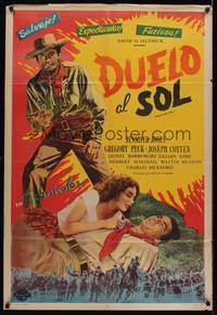 1a079 DUEL IN THE SUN Argentinean R54 sexy Jennifer Jones & Gregory Peck in King Vidor epic!