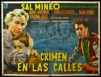 1a041 CRIME IN THE STREETS large Argentinean '56 directed by Don Siegel, Sal Mineo