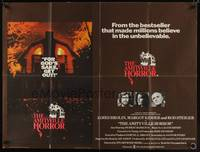 1a002 AMITYVILLE HORROR British quad '79 AIP, great image of haunted house, for God's sake get out!