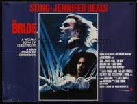 1a004 BRIDE British quad '85 Sting, Jennifer Beals, a madman and the woman he invented!