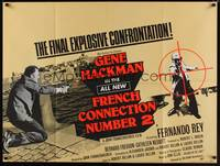 1a014 FRENCH CONNECTION II British quad '75 Frankenheimer, Gene Hackman, the final confrontation!
