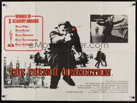 1a013 FRENCH CONNECTION British quad '71 Gene Hackman in movie chase climax, William Friedkin