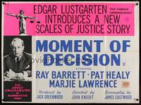 1a028 MOMENT OF DECISION British quad '62 Edgar Lustgarten introduces a new Scales of Justice story