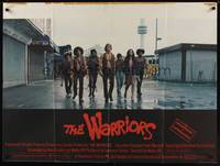 1a037 WARRIORS British quad '79 Walter Hill, great different photo of teen gang!