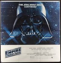 1b076 EMPIRE STRIKES BACK 6sh '80 George Lucas sci-fi classic, giant image of Darth Vader!
