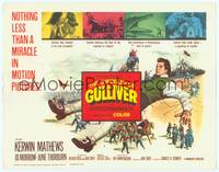 1d069 3 WORLDS OF GULLIVER TC '60 Ray Harryhausen fantasy classic, art of giant Kerwin Mathews!