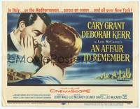 1d070 AFFAIR TO REMEMBER TC '57 romantic close-up art of Cary Grant about to kiss Deborah Kerr!