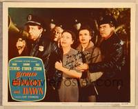 1d003 BETWEEN MIDNIGHT & DAWN signed LC #5 '50 by Gale Storm, who's with cop Edmond O'Brien!