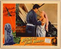 1d004 BEYOND THE TIME BARRIER signed LC #5 '59 by Robert Clark, who's with naked girl in towel!