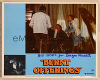 1d007 BURNT OFFERINGS signed LC #5 '76 by Burgess Meredith, who's in a wheelchair with Heckart!