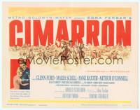 1d078 CIMARRON TC '60 directed by Anthony Mann, Glenn Ford, Maria Schell, cool artwork!