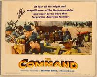 1d010 COMMAND signed LC #7 '54 by James Whitmore, who's with Guy Madison & other cavalrymen!