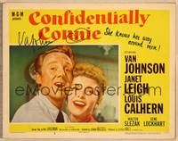 1d011 CONFIDENTIALLY CONNIE signed LC #3 '53 by Van Johnson, who's singing with Janet Leigh!